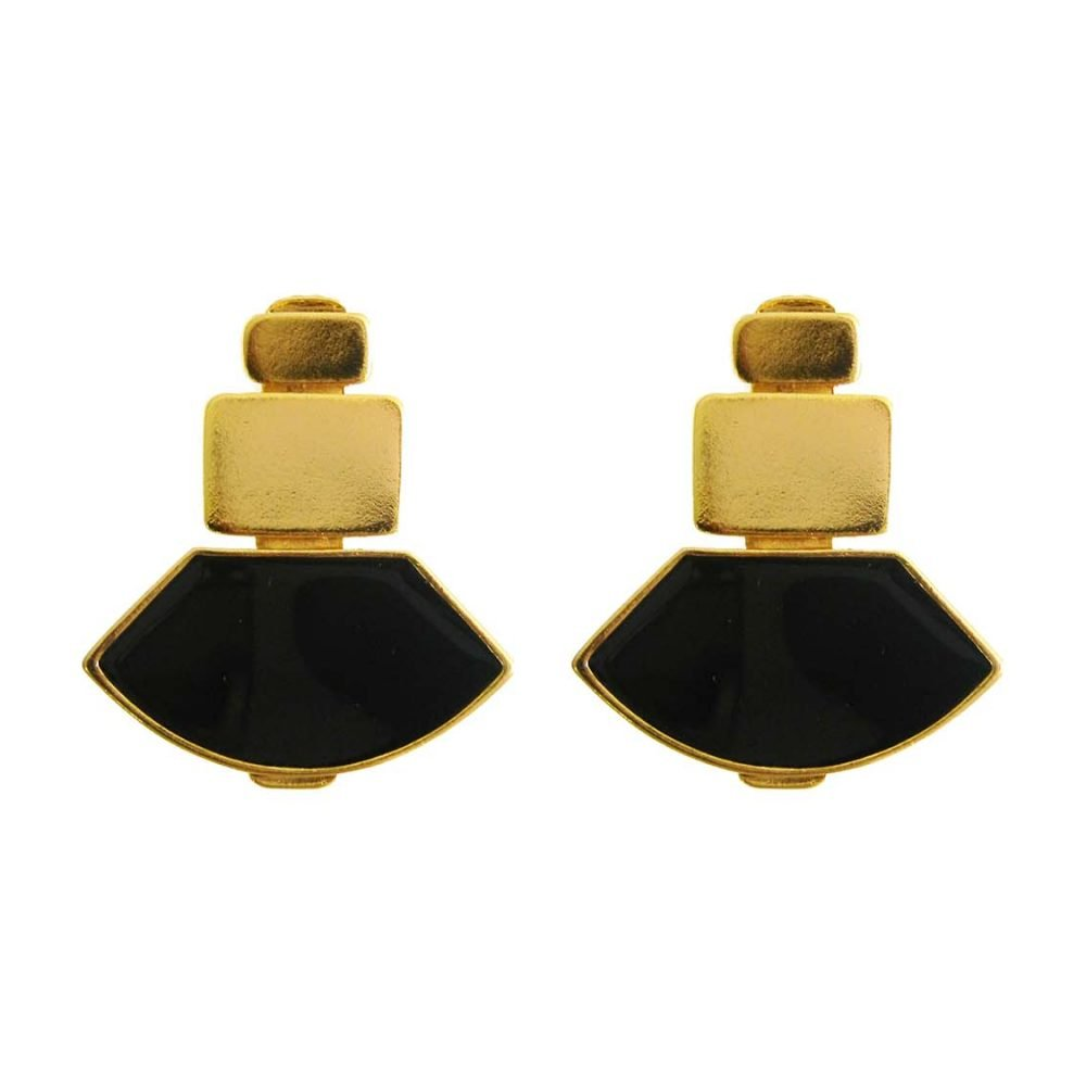 Tokio Black Earrings