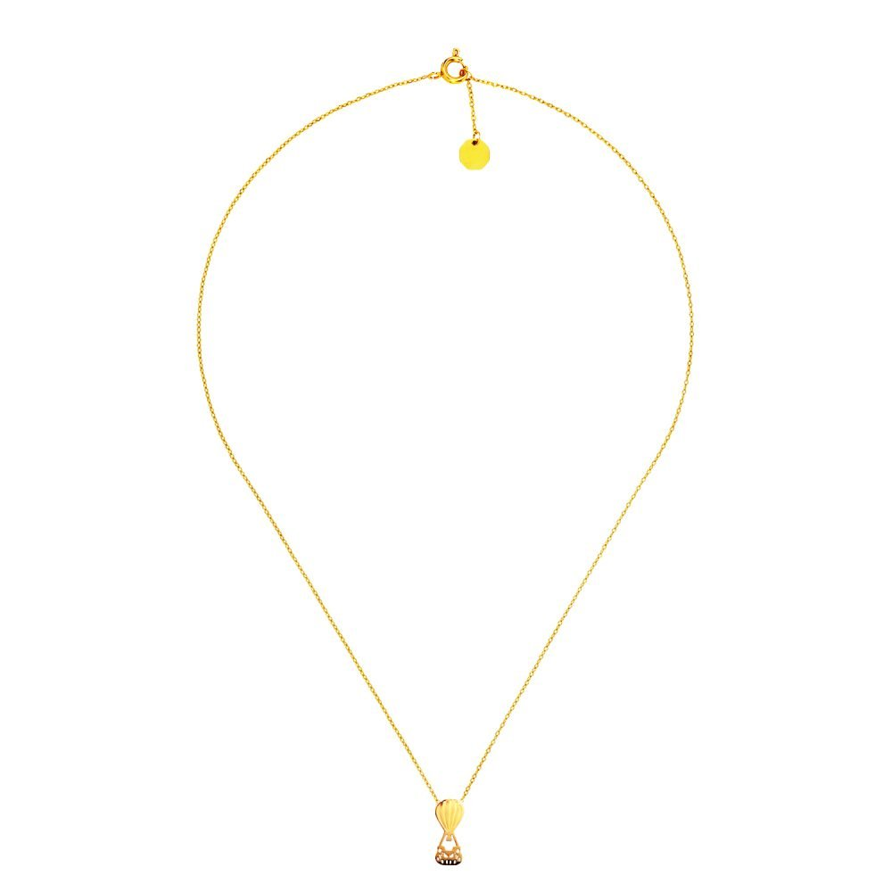 Hot Balloon Necklace Gold