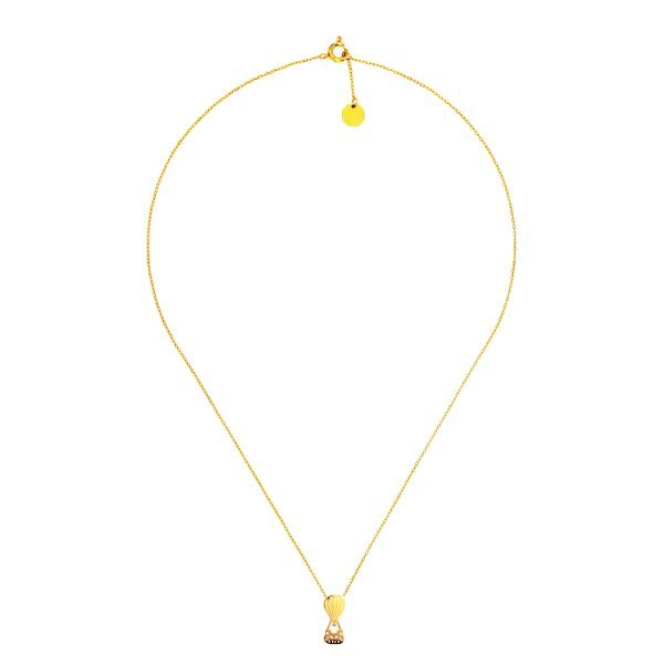 Hot Balloon Necklace Gold
