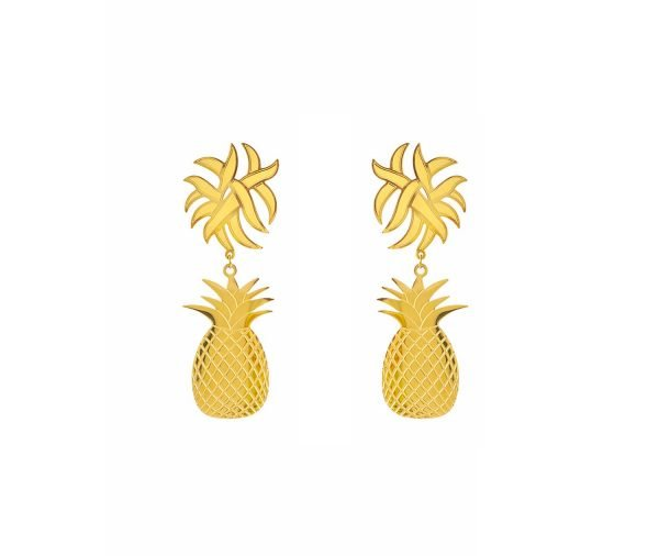 Maxi Pineapple Earrings