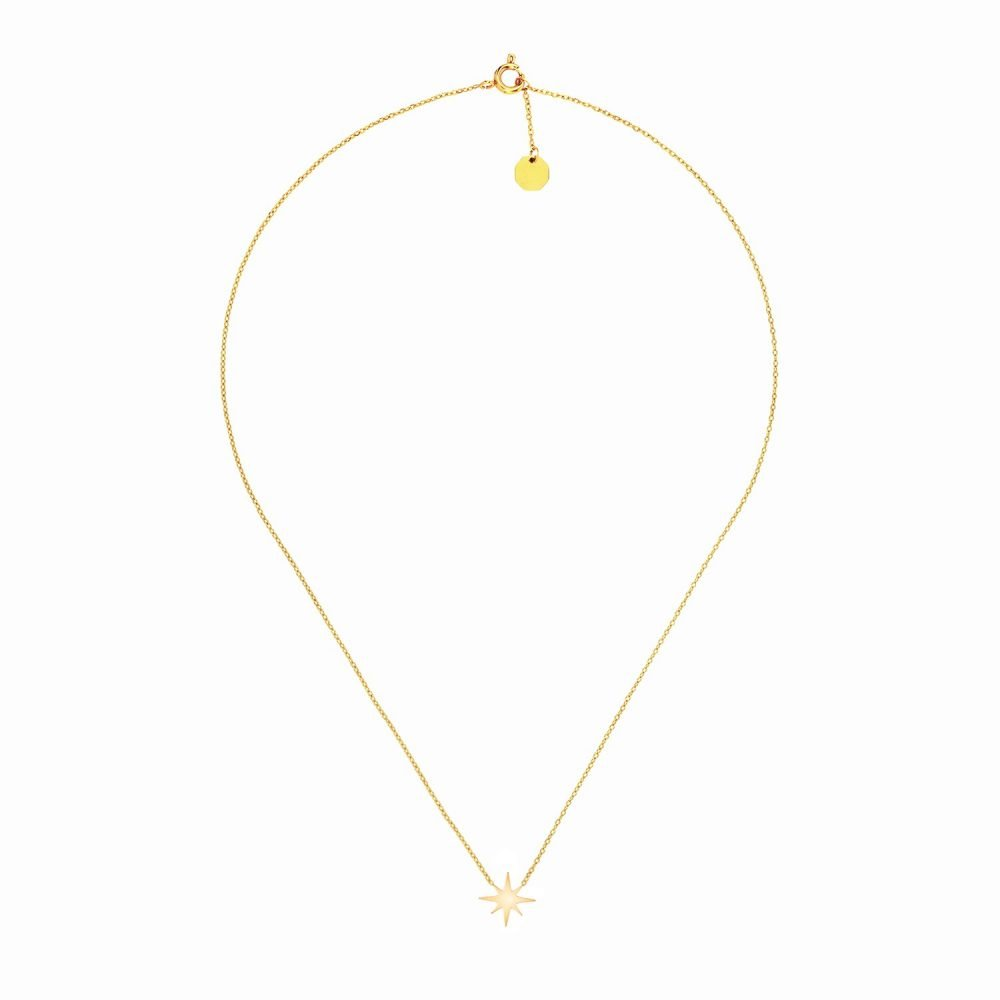 North Star Necklace Gold