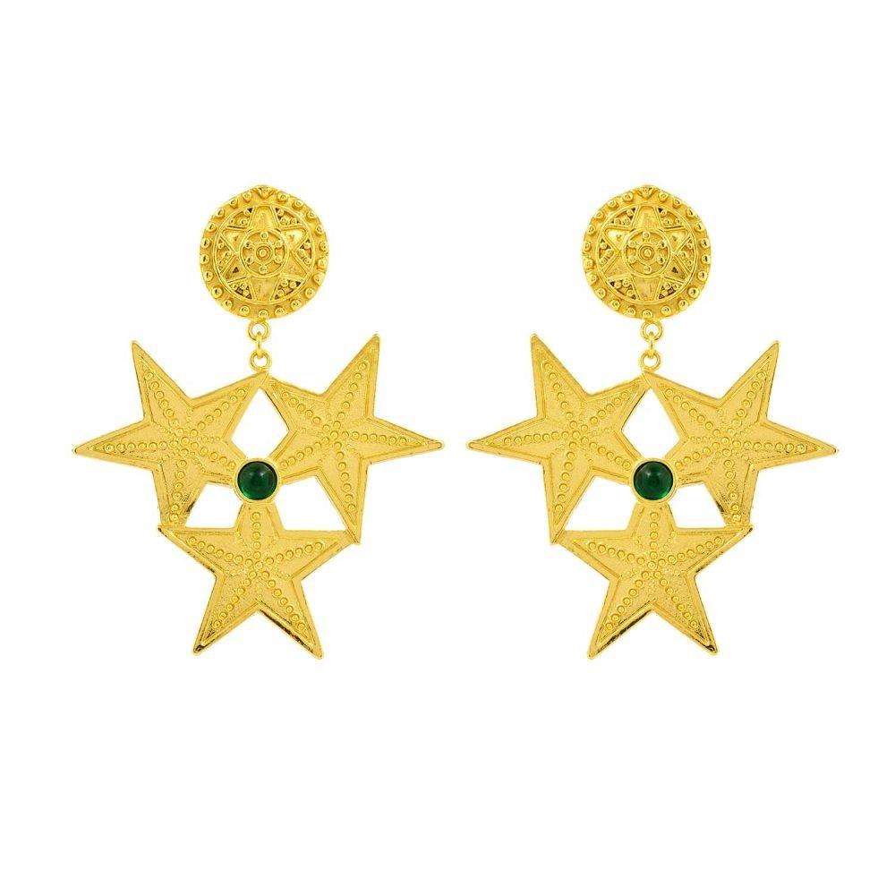 Samara Green Earrings