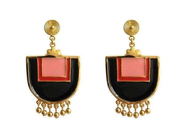 Santo Domingo Red Earrings