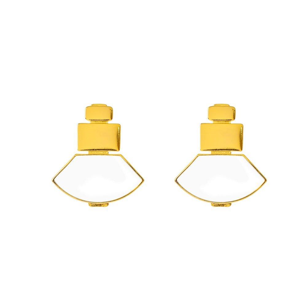 Tokio White Earrings