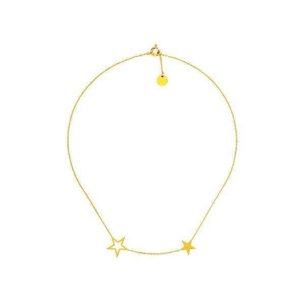 Tiny Stars Necklace Gold