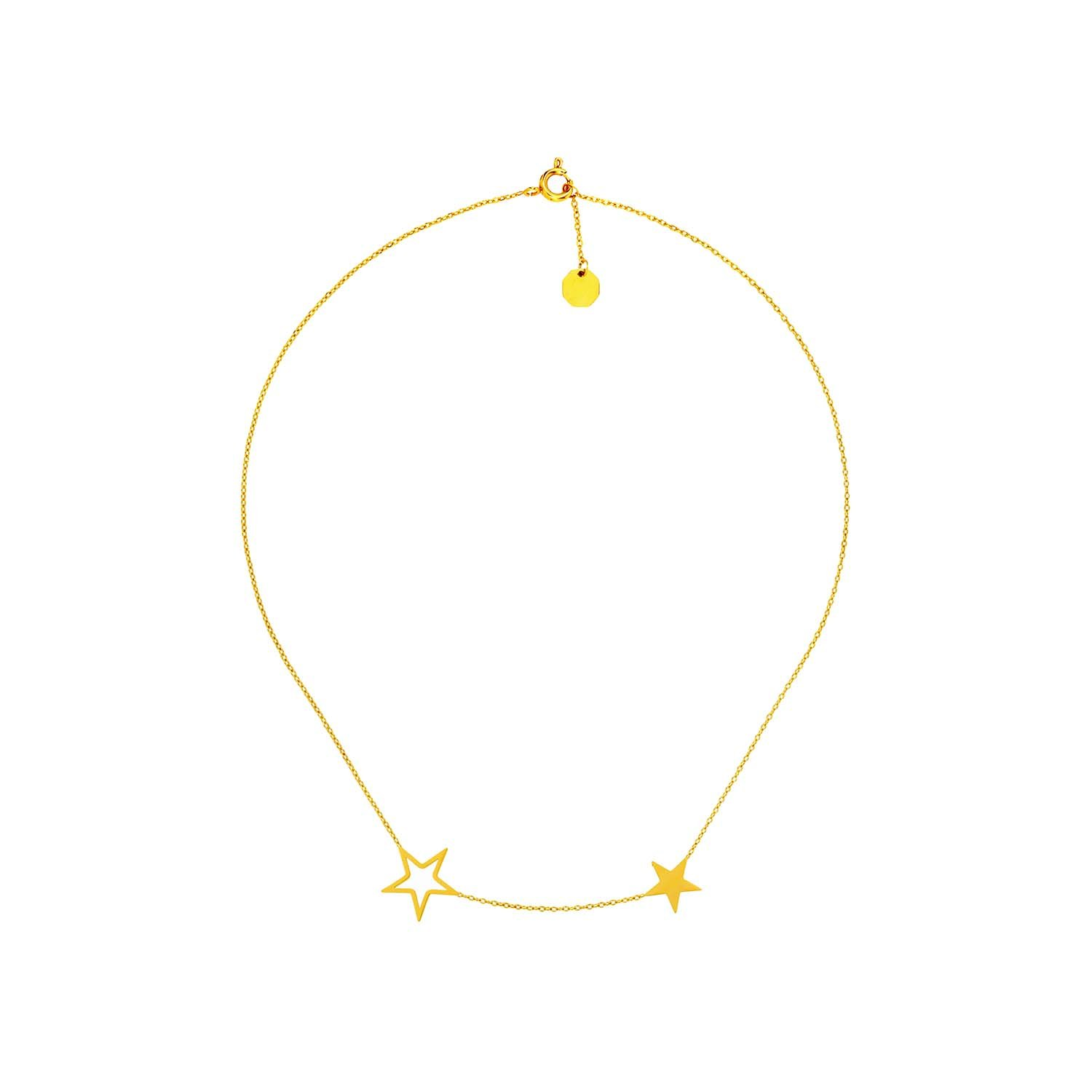 Tiny Stars Necklace Gold