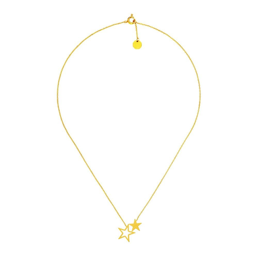 Twinkle Stars Necklace Gold